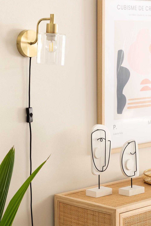Lâmpada de parede ambe para quarto, imagem de galeria 1