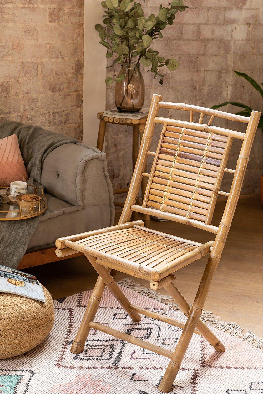 Cadeira de jantar dobrável de bambu Yakku, imagem de galeria 1