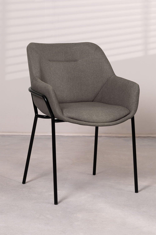 Leni Fabric Dining Chair, imagem de galeria 1