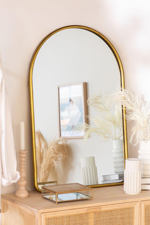 Espelho de parede clovis metal, imagem de galeria 1