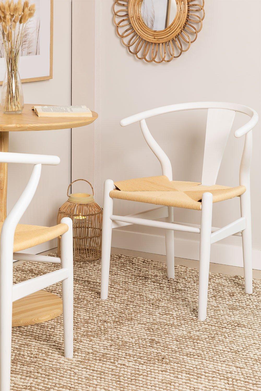 Cadeira de jantar de madeira com design Uish, imagem de galeria 1