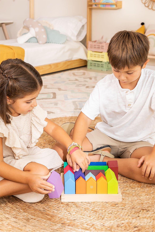 Puzzle de madeira para crianças da cidade, imagem de galeria 1