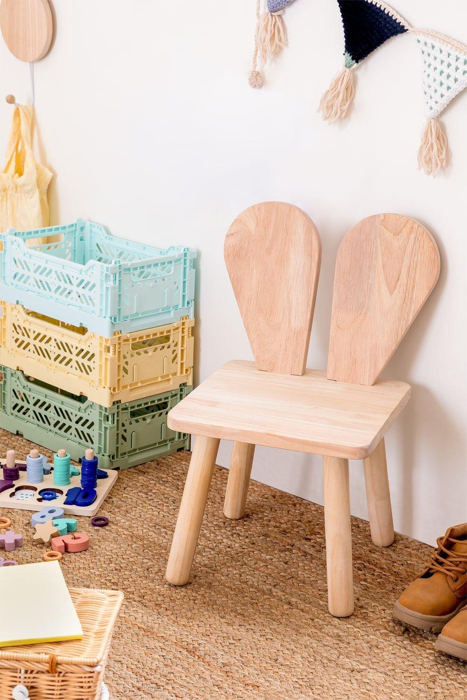 Cadeira de madeira Buny Style Kids, imagem de galeria 1