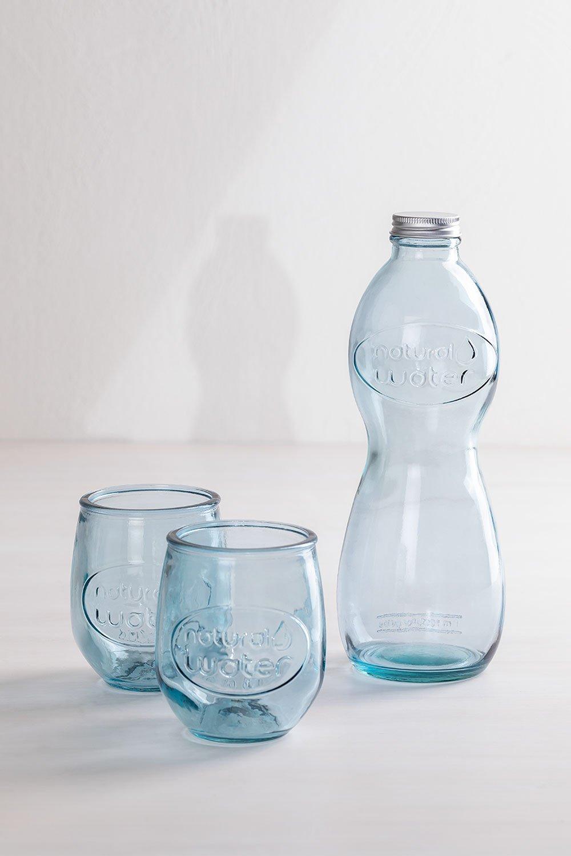 Conjunto de mesa de vidro reciclado Kasster, imagem de galeria 1