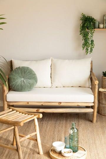 Sofá 2 lugares em madeira de teca narel