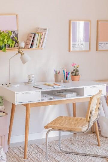 Mesa de escritório em madeira Baldri