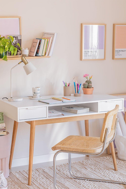 Mesa de escritório em madeira Baldri, imagem de galeria 1