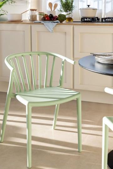 Cadeira de jantar empilhável Ivor