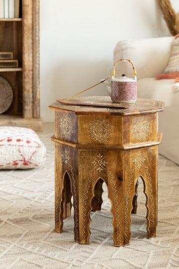 Jena Wood Side Table