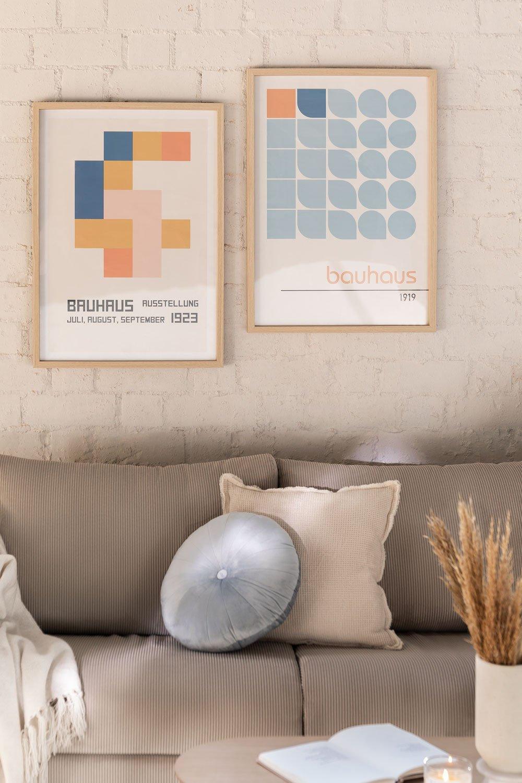 Conjunto de 2 Láminas Decorativas (50x70 cm) Auss, imagem de galeria 1
