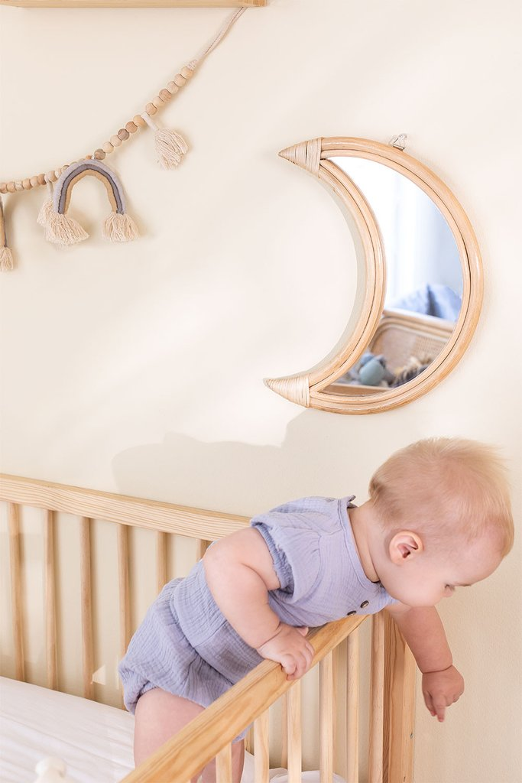 Jonik Rattan Wall Mirror, imagem de galeria 1