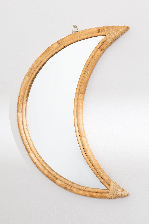 Espelho de parede de rattan (50,5 x 36,5 cm) Onell, imagem de galeria 1