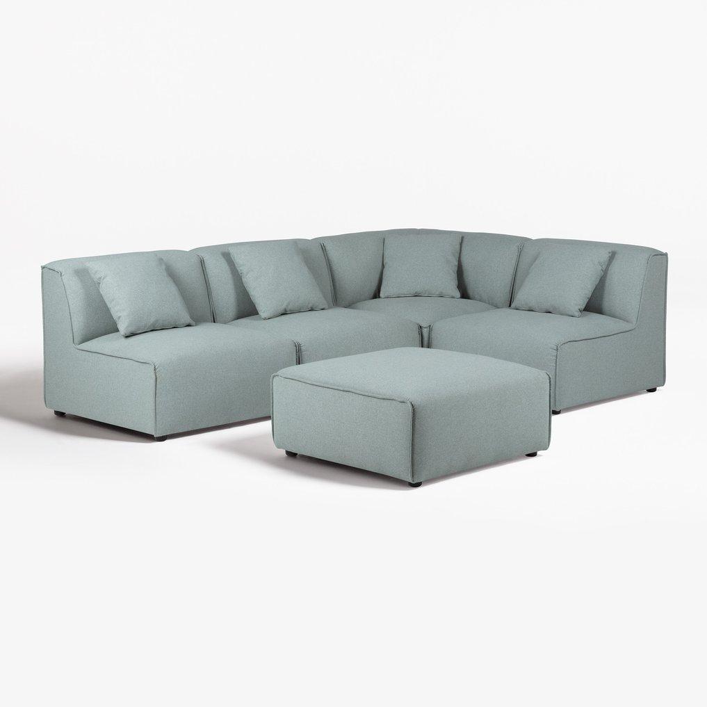 Sofá modular de 4 lugares com Puff Aremy, imagem de galeria 1