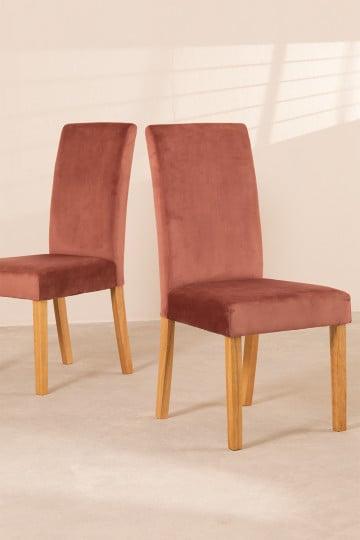 Pack de 2 cadeiras de jantar Cindy Velvet