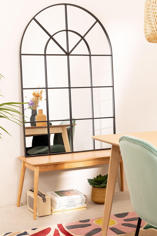Espelho de parede em efeito de janela de metal (135x92 cm) Paola , imagem de galeria 1