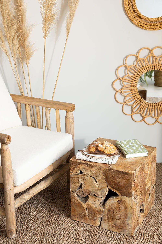Mesa lateral de madeira Grook, imagem de galeria 1