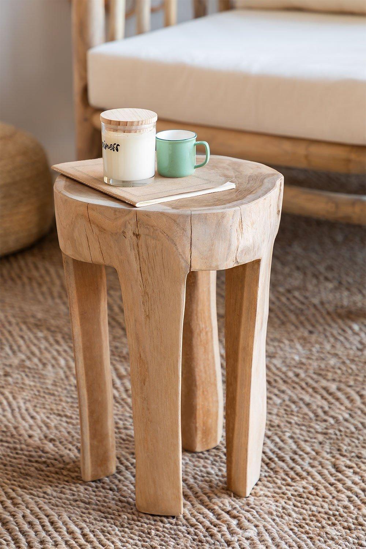 Mesa lateral de madeira Dery, imagem de galeria 1