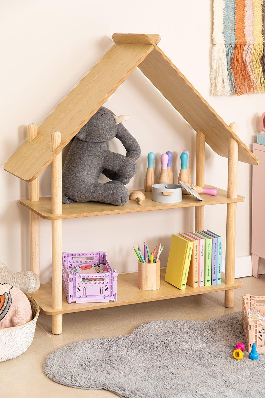 Prateleira infantil Zita com 2 prateleiras de madeira, imagem de galeria 1