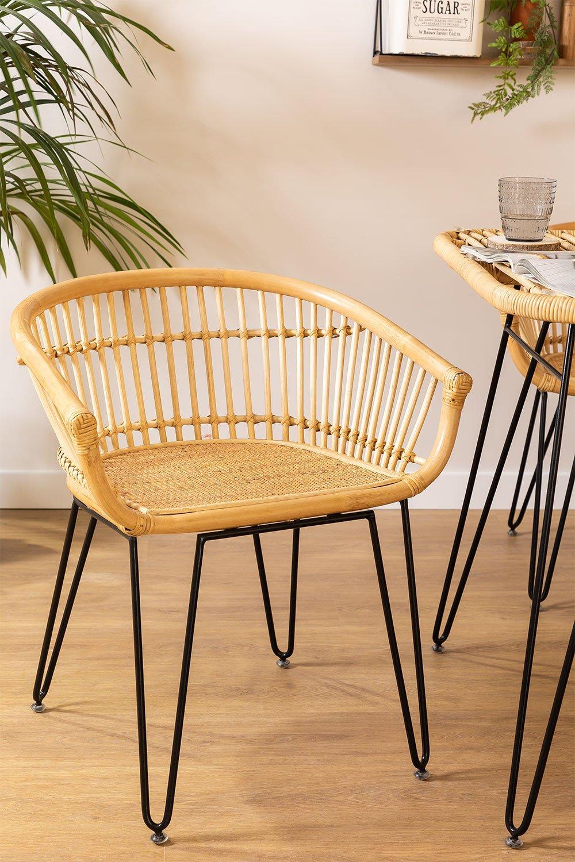 Cadeira de jantar Zenta Rattan, imagem de galeria 1