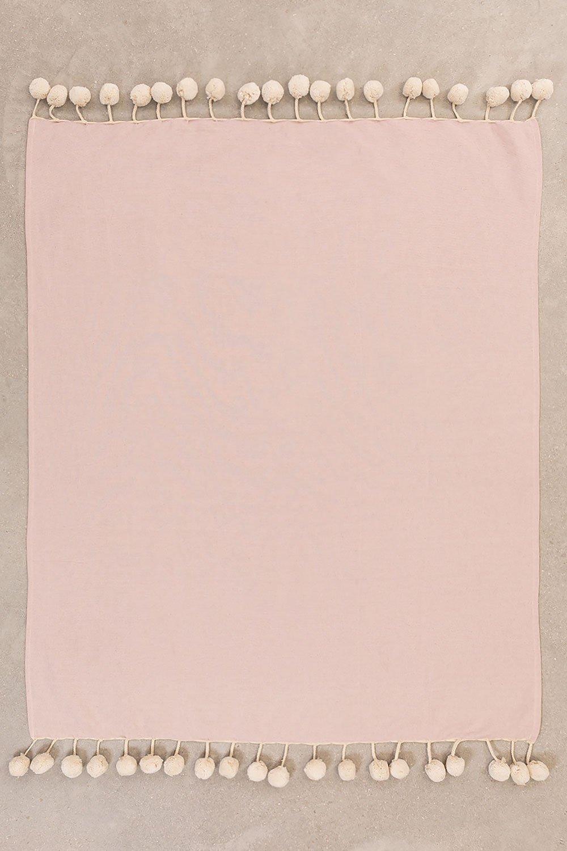 Manta de algodão xadrez Olis, imagem de galeria 1