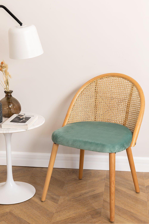 Cadeira de jantar Kloe Wood, imagem de galeria 1