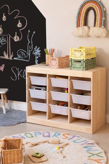 Módulo de armazenamento de madeira para crianças Nopik