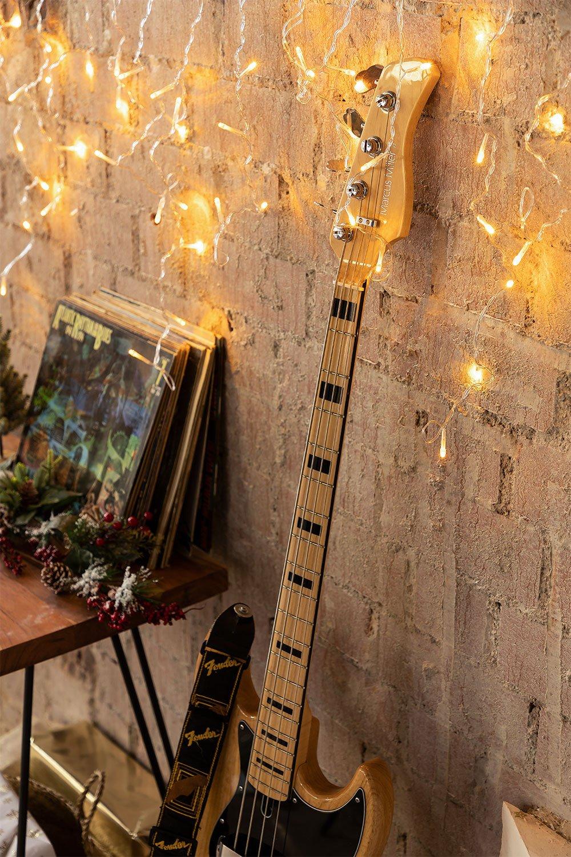 Cortina com luzes LED (2 m) Jill Warm Light, imagem de galeria 1