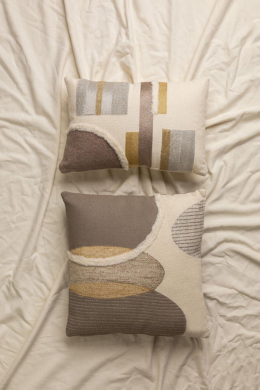 Almofada de algodão bordada (45x45 cm) Aspen, imagem de galeria 1