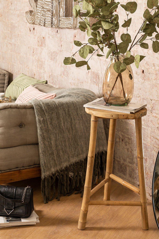 Banquinho alto de bambu Barlou , imagem de galeria 1