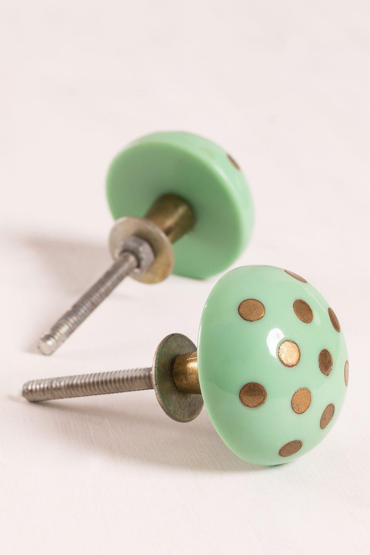 Conjunto de 2 cabos de cerâmica Perpi, imagem de galeria 1