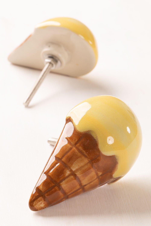 Conjunto de 2 alças de cerâmica para sorvete infantil, imagem de galeria 1