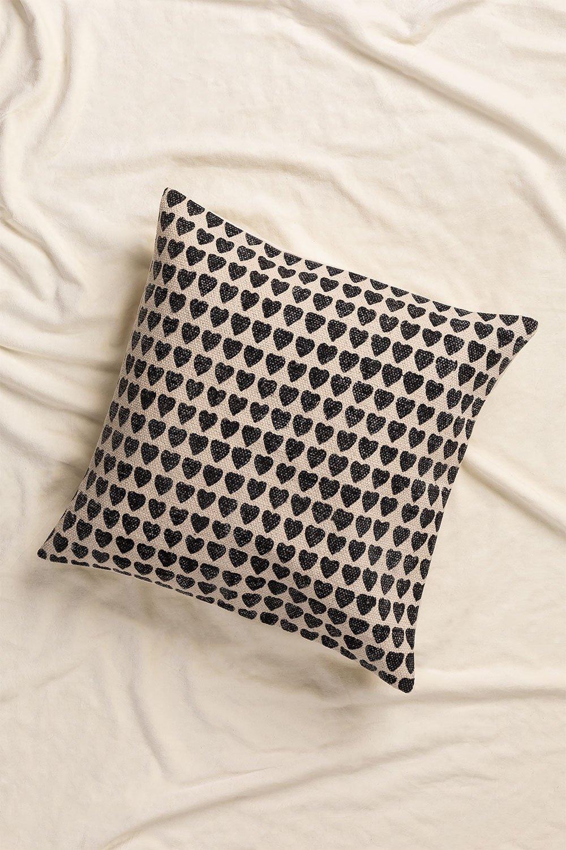 Almofada quadrada de algodão (50x50cm) Urub, imagem de galeria 1