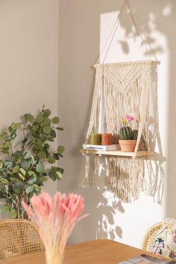 Tapeçaria de algodão Atena com prateleira de parede