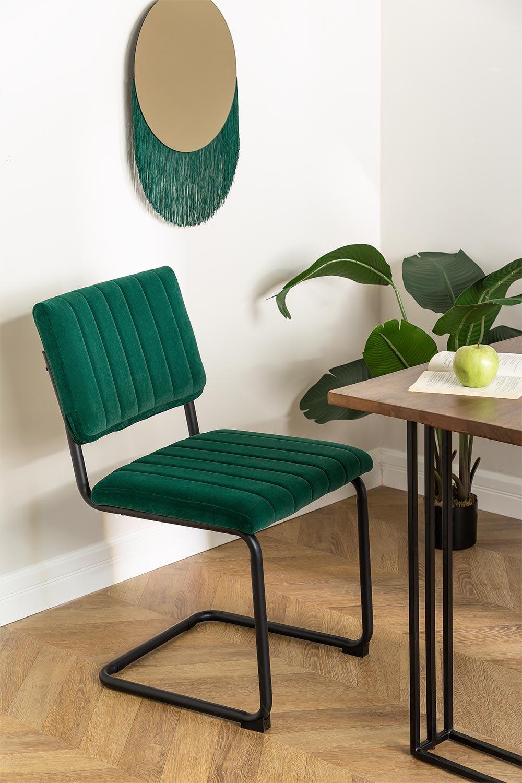 Orwell Velvet Dining Chair, imagem de galeria 1