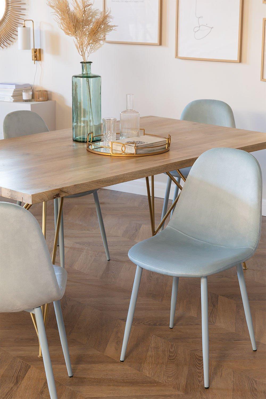 Glamm Colors Velvet Cadeira de Jantar, imagem de galeria 1