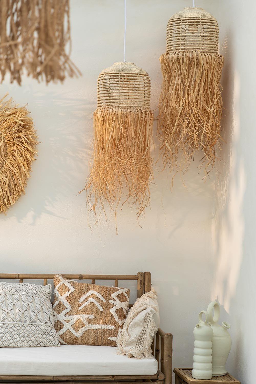 Candeeiro de tecto em Raffia Yul, imagem de galeria 1