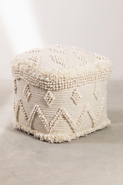 pouf de lã quadrada drutt, imagem de galeria 1