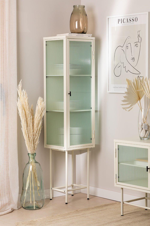 Vitrine de 1 porta em metal e vidro Vertal, imagem de galeria 1