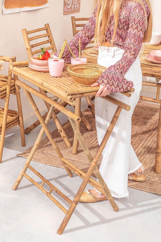 Mesa lateral com bandeja em Bamboo Tonga, imagem de galeria 1