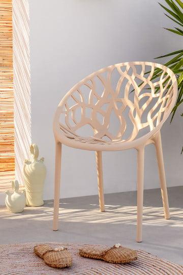 Cadeira de jardim de minérios