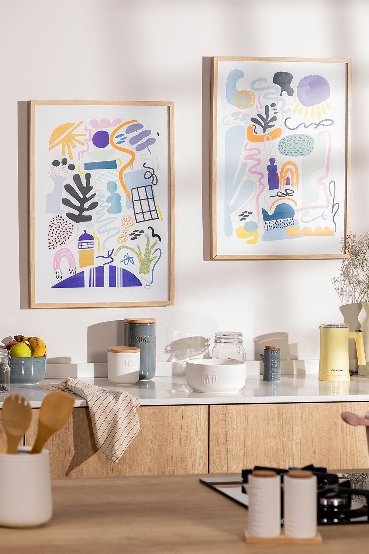 Conjunto de 2 laminados decorativos (50x70 cm) Zity, imagem de galeria 1