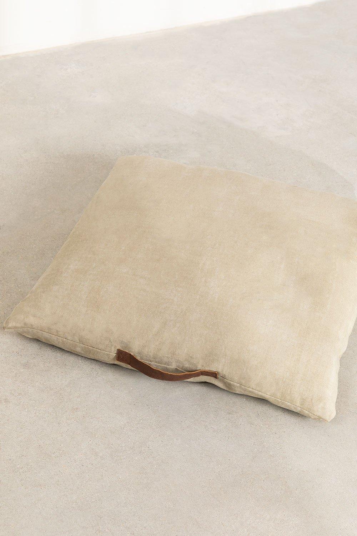Almofada de piso de algodão quadrada Barry, imagem de galeria 1
