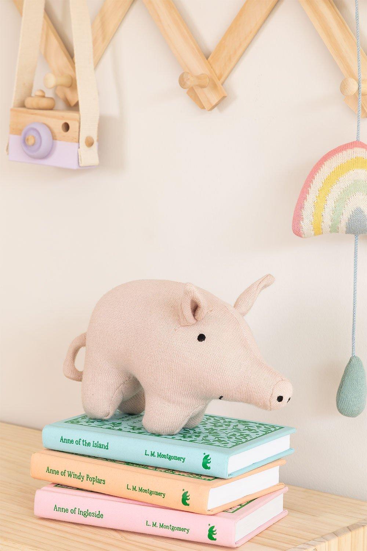 Porco de pelúcia de algodão de bebê infantil, imagem de galeria 1