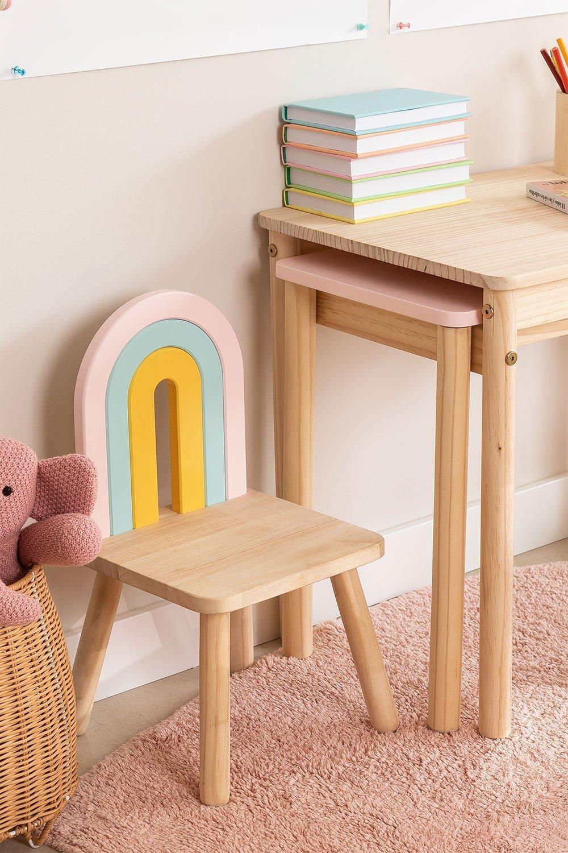 Cadeira de madeira para crianças Mini Rainbow, imagem de galeria 1