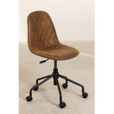 Glamm Diamond Leatherette Desk Chair, thumbnail image 3
