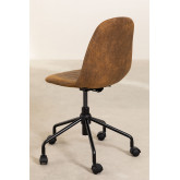 Glamm Diamond Leatherette Desk Chair, thumbnail image 5