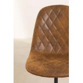 Glamm Diamond Leatherette Desk Chair, thumbnail image 6