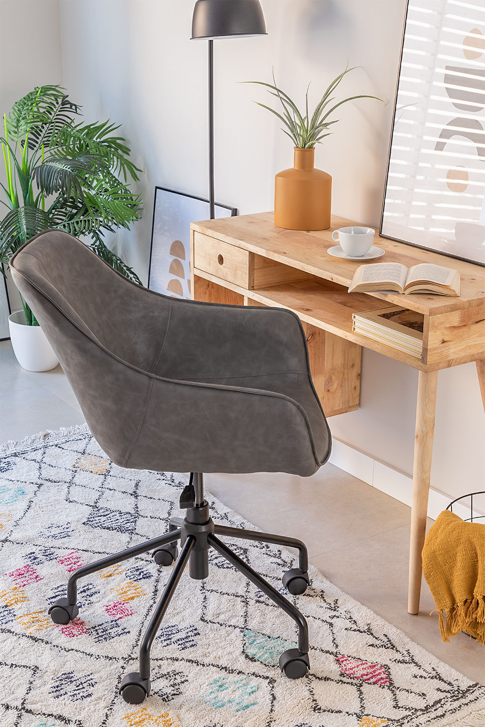 Leatherette Desk Chair Lucy , gallery image 1