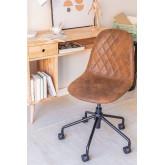 Glamm Diamond Leatherette Desk Chair, thumbnail image 1