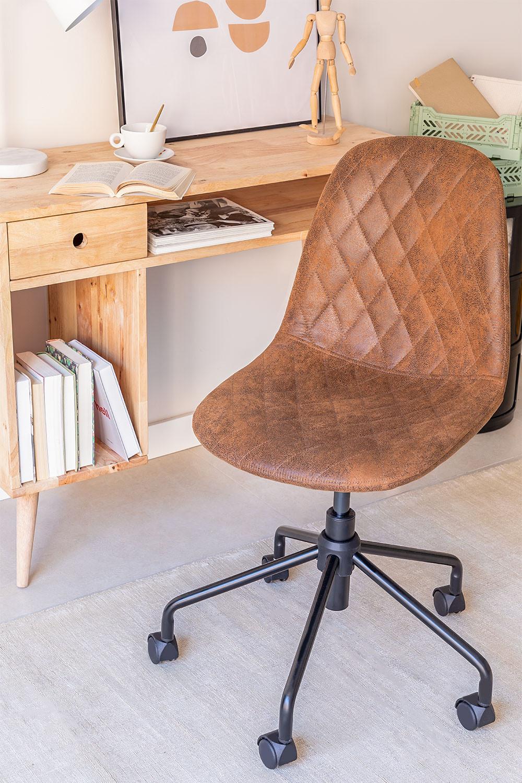 Glamm Diamond Leatherette Desk Chair, gallery image 1